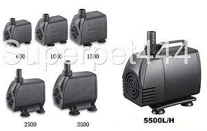 Submersible / bassin / fontaine / aquarium Pompe 600/1000/1500/2500/3500/5000 L / h