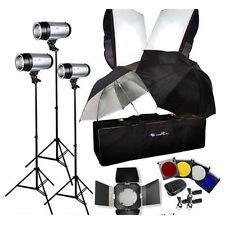 Photography 900W Strobe Studio Flash Light Kit Lighting Set  (3 x 300W)