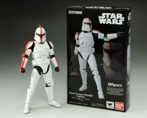 BANDAI S.H.Figuarts Star Wars CLONE TROOPER PHASE 1 CAPTAIN Action Figure