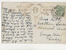 Miss Kelly Northern House Penhevad Street Grange Town Cardiff 1910  833a