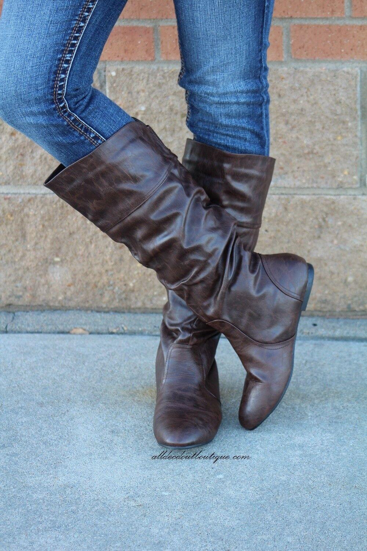 Bonnibel | Danniz Mid-Calf Slouchy Boot Braun