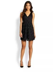 NANETTE LEPORE Women's Casual Dress Woven Emotions Black Lace Size 8