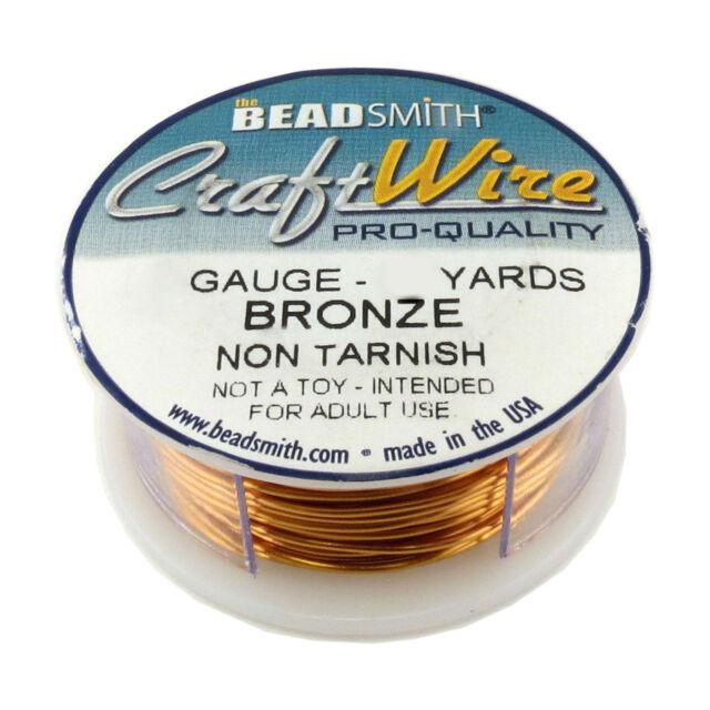 Pack of 2 Beadsmith Vintage Bronze Craft Wire 18-28 Ga Non Tarnish Round Wire