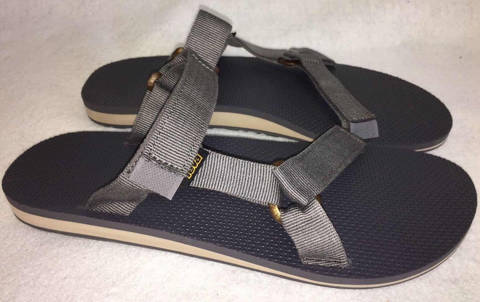 56bf05d33 TEVA Mens Original Universal Slide Grey Gray Trail Summer Summer Summer  Sandals Slides 1010171 8878e6