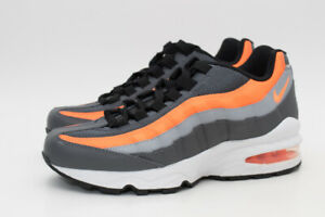 NIKE-AIR-MAX-95-GS-BIG-KIDS-SIZE-5Y-WOMENS-6-5-GREY-ORANGE-BLACK-905348-033