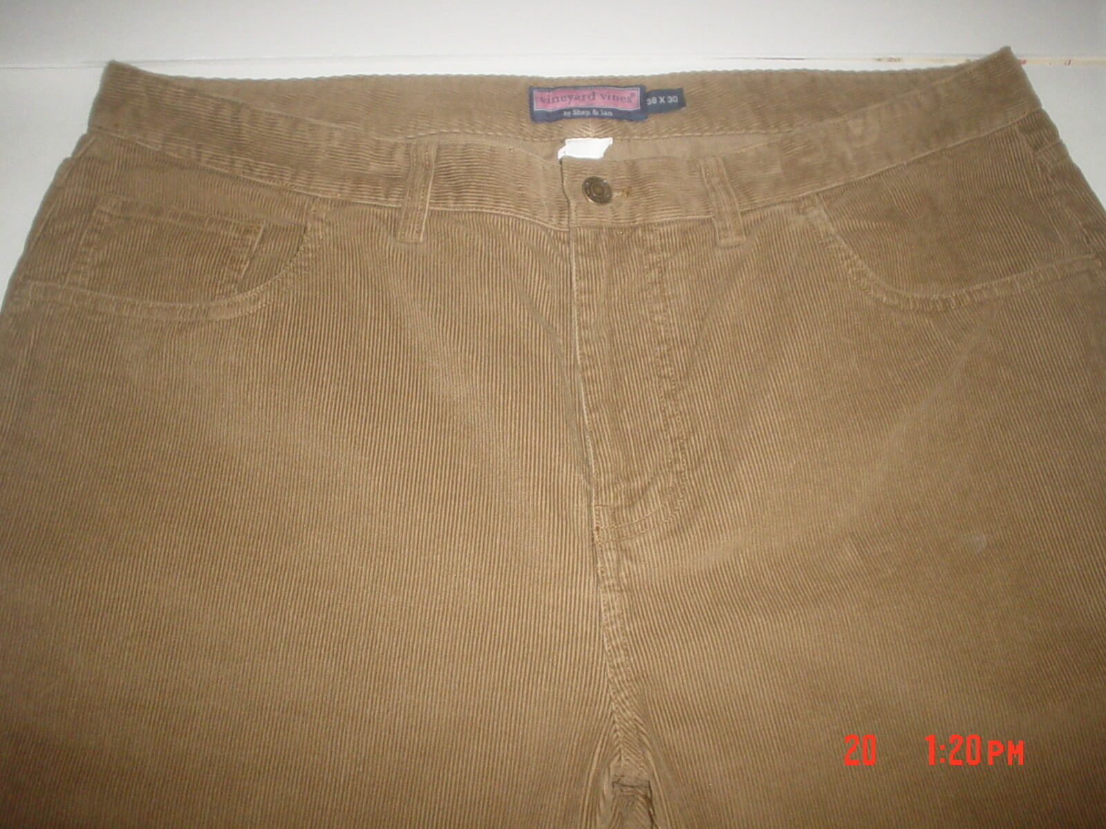 VINEYARD VINES BY SHEP & IAN CORDUROY PANTS SZ.38