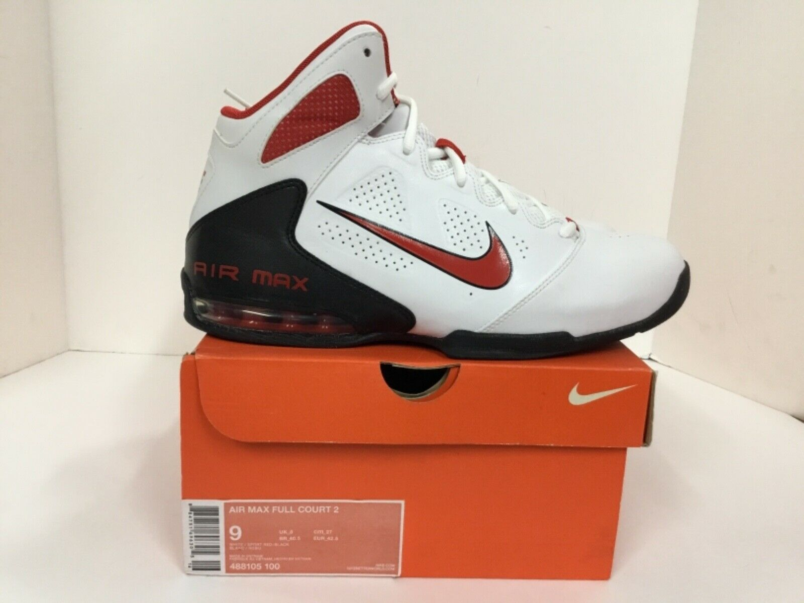 Nike Air Max Full Court 2 Mens Style  488105 100 Size 9