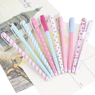 10PCS Fashion Korean Stationery Watercolor Pen Gel Pens Set Color Kandelia