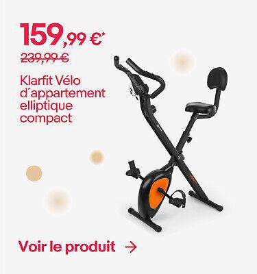 Klarfit Vélo d´appartement elliptique compact - 159,99 €*