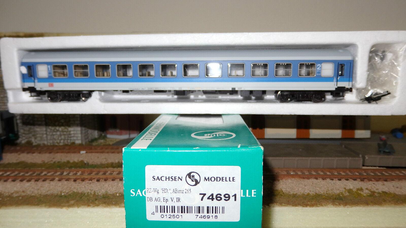 Sachsenmodelle Tillig 74691 Coche Mixta 1 2 Cl. Bautzen Librea Ir Azul blancoo