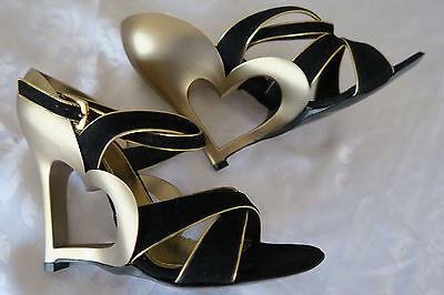 Marc Jacobs Pumps High Heels Suede Black Specchio MJ12111 Schuhe Schwarz Gold