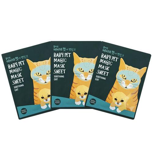 HolikaHolika Baby Pet Magic Mask Sheet Soothing Cat 22ml 3Pcs
