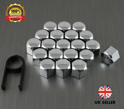 20 Car Bolts Alloy Wheel Nuts Covers 17mm Chrome For  Volvo C30
