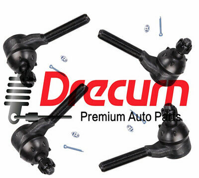 4 Set Premium Front Outer And Inner Tie Rod Ends Fits Left And Right Side