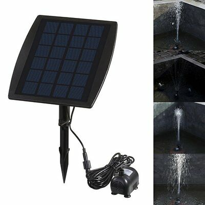 Solar Power Submersible Fountain Pond Water Pump Panel Kit Garden Pool Water SH