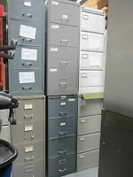 Metal 4 Drawer Vintage Filing Cabinet Grey Foolscap Heavy Duty Cabinets (Key+£)