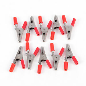 5-10pcs-Alligator-Clips-Clamp-to-4mm-Banana-Female-Jack-Test-Adapter-Red-Black