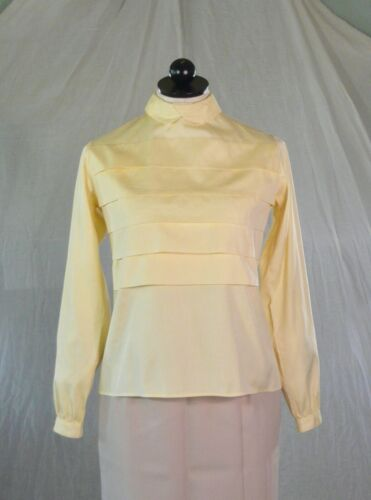 NORTON DITTO vintage 70s yellow cotton BLOUSE SHIR
