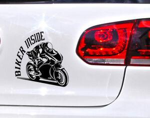 Biker Inside Motorrad Aufkleber Auto Tuning Sticker Ghost Rider
