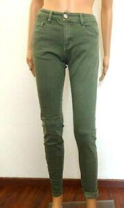 85fd29278 Détails sur jean slim BS JEANS T 36 taille haute vert kaki clair femme