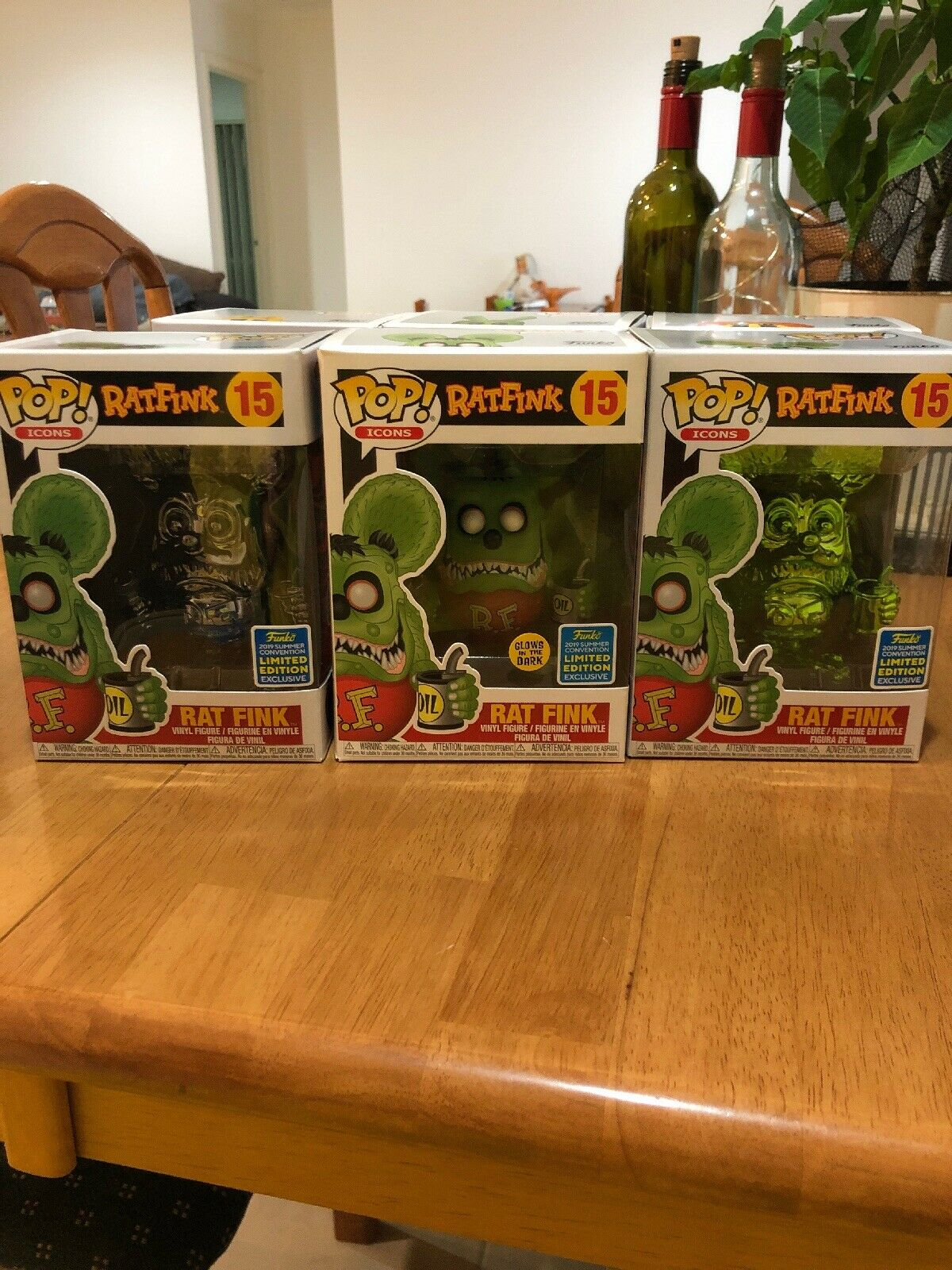 SDCC 2019 EXCLUSIVE FUNKO POP  RAT FINK (SET OF 3)