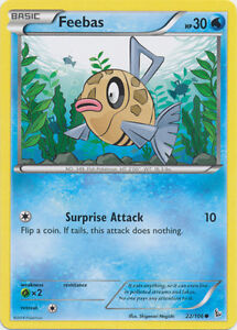 x4-Feebas-22-106-Common-Reverse-Holo-Pokemon-XY-Flashfire-M-NM-English
