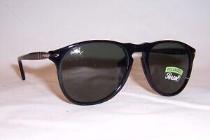 AUTHENTIC PERSOL SUNGLASSES BLACK FRAME GREEN POLARIZED LENSES,9649S 95//58-55i