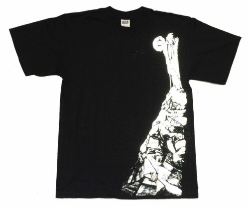 Led Zeppelin Reflective Hermit Stairway to Heaven Black T Shirt New Official