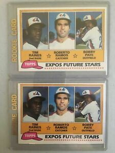 2-1981-TOPPS-479-TIM-RAINES-RC-LOT-OF-2-BASEBALL-CARDS-Hall-of-Fame-EXPOS