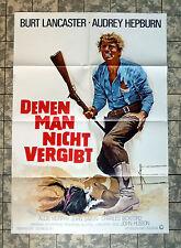 LANCASTER, HEPBURN * DENEN MAN NICHT VERGIBT - A1-FILMPOSTER WA Unforgiven RR 71
