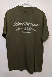 Red Stripe Beer Jamaica Green Large T Shirt Ebay