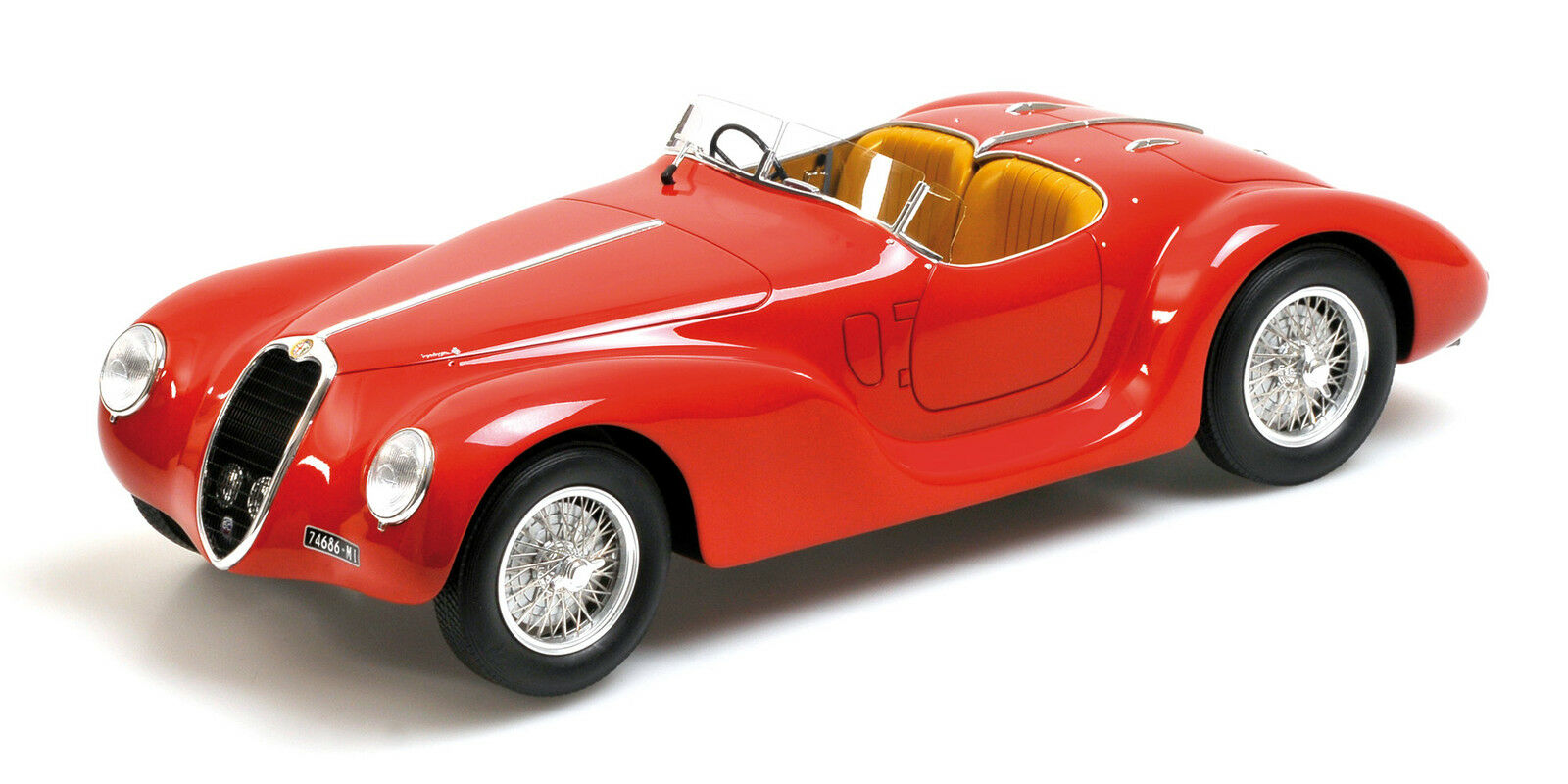 1939 Alfa Romeo Corsa 6c 2500 Ss Spider Rojo  Ltd 999pc Minichamps 107230