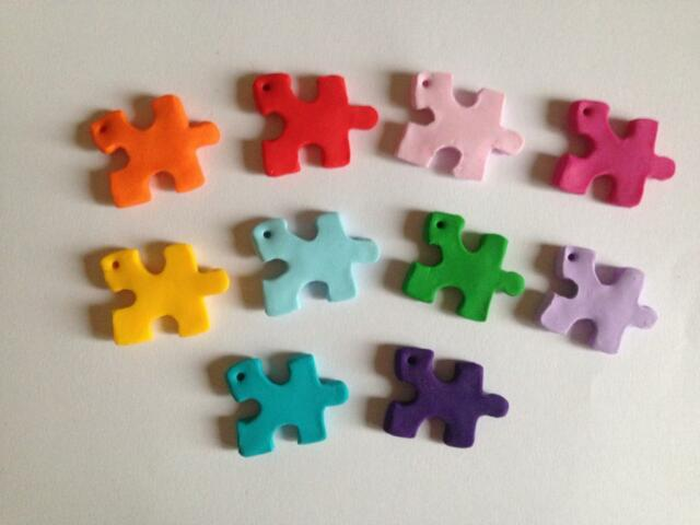 Lot 2 Charm Cookie Monster Elmo Jigsaw Dice Lego Gaming Gameboy Color Retro Fimo