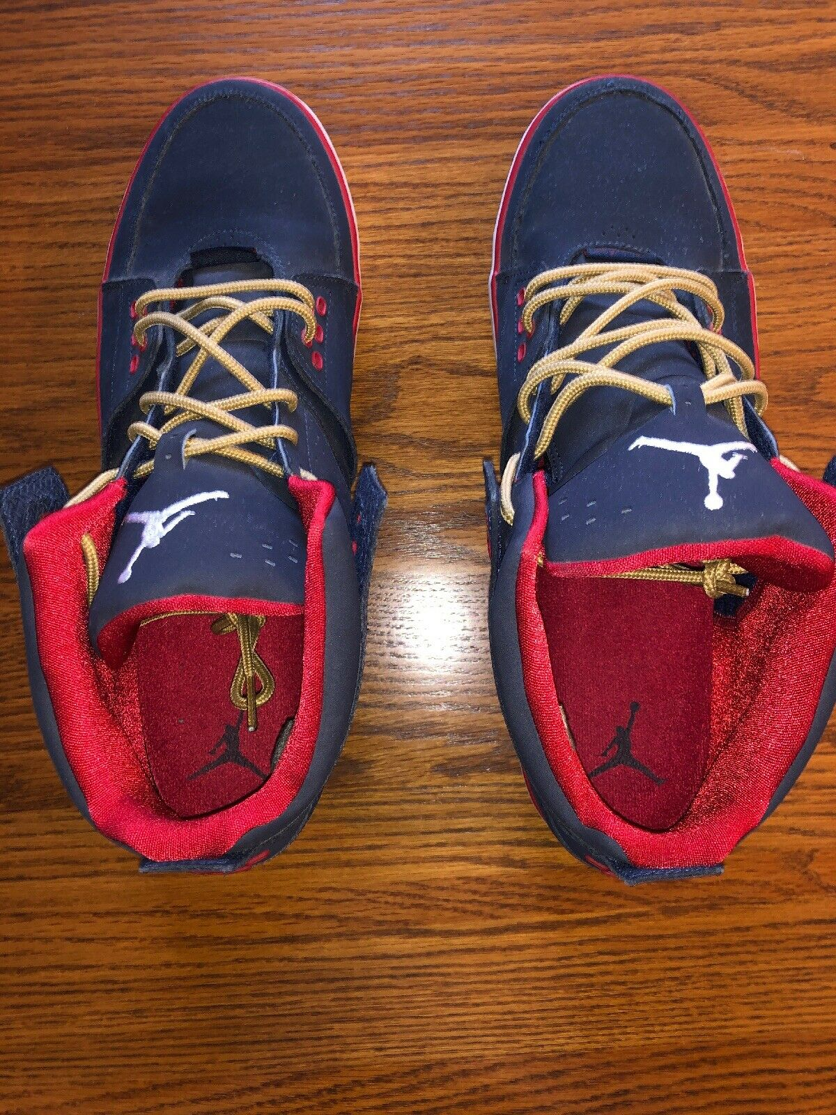 Air Jordan 2012 Navy Red White gold Lace Size 13 MINT