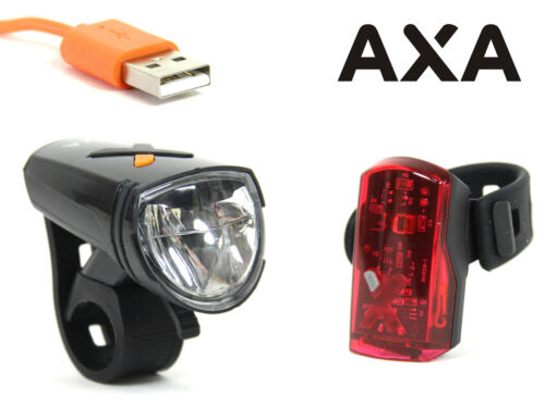 AXA Greenline Bicycle Battery Lighting 15 30 50 Lux LED Headlight Taillight