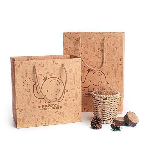 Happy Elephan birthday holiday baby 1 SET gift box+gift bag+shredded paper