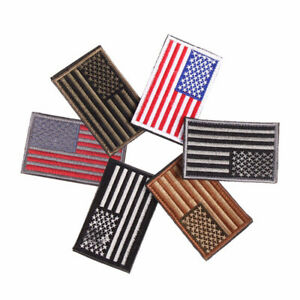 DIY-Embroidered-American-Flag-Patch-Appliques-USA-Military-Tactics-Iron-On-Sew-b