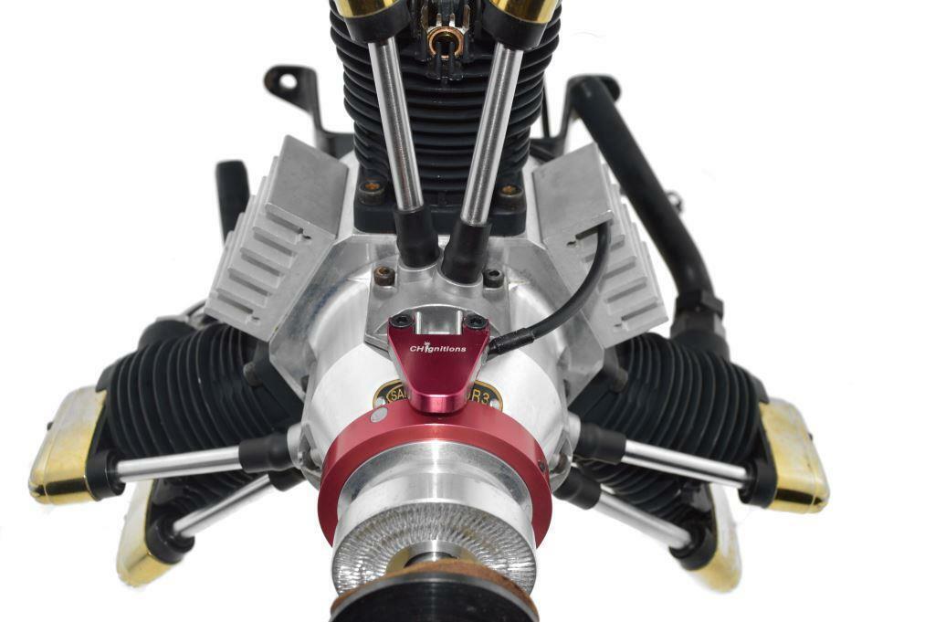 Saito 450 R3 de Doble Enchufe, resplandor Ch igniciones CDI conversión, saie 450R3D