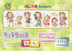 sodastitch SO-G123 Aloha Sisters-Cross Stitch Pattern Ou Kit