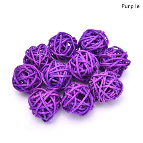 10pcs 3cm//5cm Rattan Ball Wedding Party Ornament Craft Dried Ball Festival/_DM