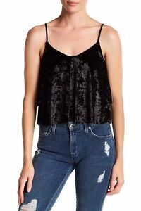 3e4298212ceaa2 NWT Madison Berkeley Women Camisole Crop Tank Layered Crushed Velvet ...