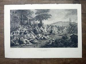 LA-KERMESSE-OU-FETE-DE-VILLAGE-Gravure-de-Ch-DE-BILLY-d-039-ap-RUBENS-19e-s-L-039-Art