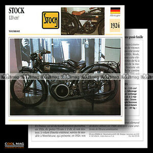 #093.09 STOCK 120 1924 Classic Bike Fiche Moto Motorcycle Card AarIGnN7-09152755-354600937