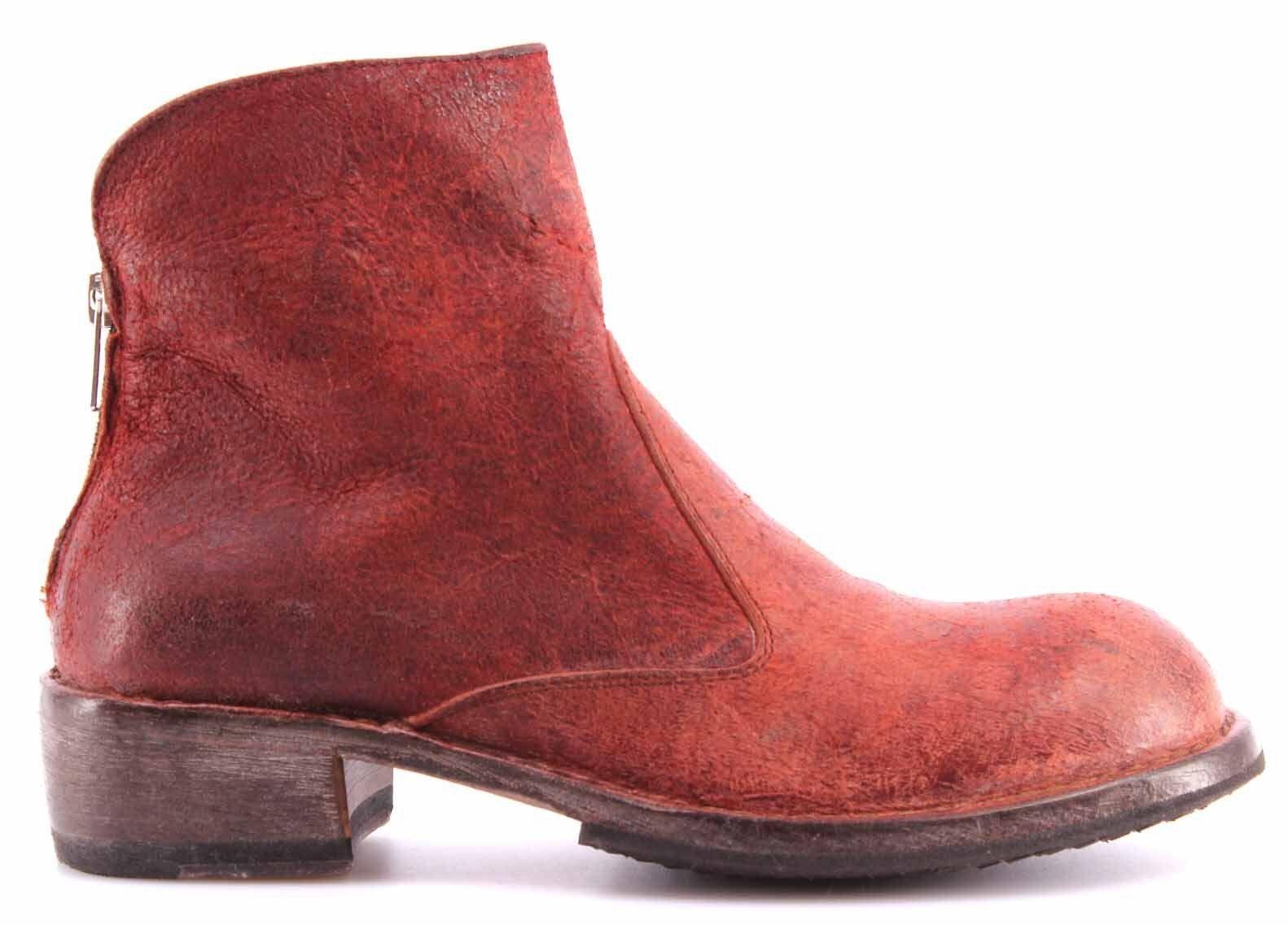 Zapatos Mujer Botines Botines Botines MOMA Ankle Bota Vari D Pelle Crosta Rossa Vintage Italy e42af5