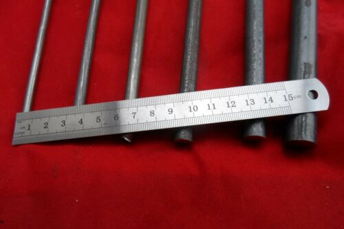 STEEL SOLID  Round Bar Size 16 MM x 300 MM  BLACK SOLID ROD  FREE POST OZ WIDE