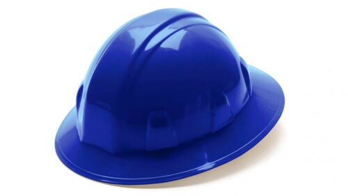 Blue Pyramex 4 Point Full Brim Style with Ratchet Suspension