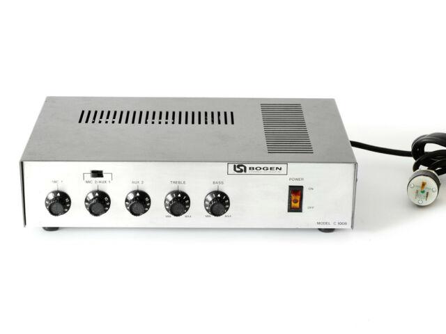Vintage Bogen Lear Siegler Model C-100B Amplifier Public Address Mixer  C-100 B