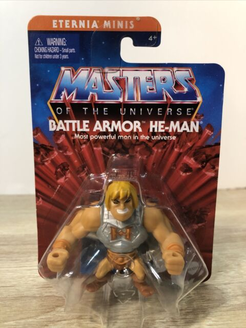 "Battle Armor He-Man Master of the Universe 2"" Eternia Minis MOTU New Sealed"