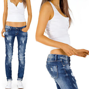 jeans damen h ftjeans zerrissene hose destroyed skinny relaxed fit stretch j51kw ebay