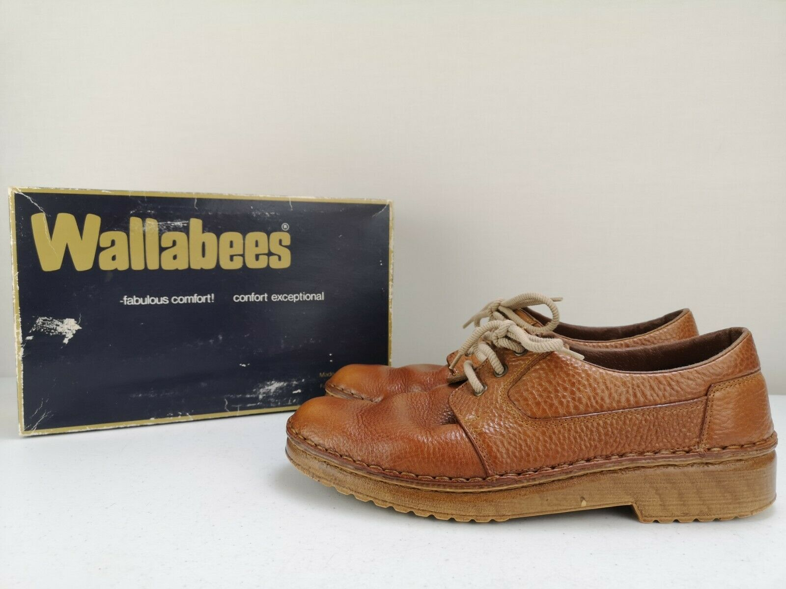 STITCHCRAFT WALLABEES Men Man Flat Casual Shoe Leather Trainer Slip On Size 8